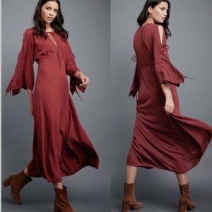 Free People Endless Summer rust maxi boho dress